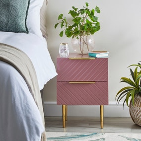 Maurice Blush Bedside Table