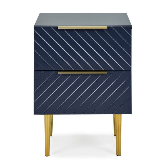 Maurice Navy Bedside Table Navy