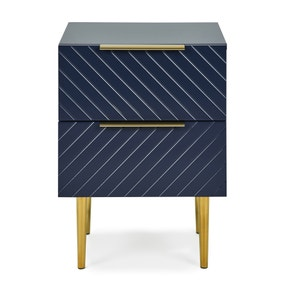 Maurice Navy Bedside Table