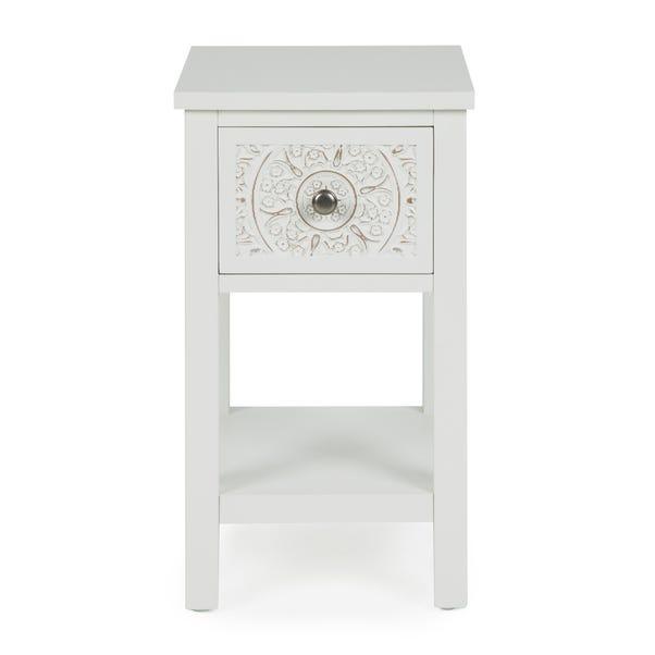 Samira 1 Drawer Bedside Table White