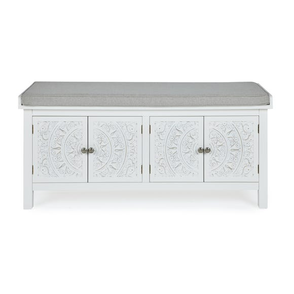 Samira Storage Bench White