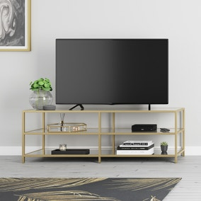 Claudia Gold Effect Wide TV Stand