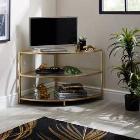 Claudia Gold Effect Corner TV Stand