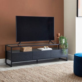Dillon Black Extra Wide TV Stand