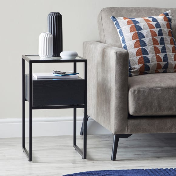 Dillon Black Side Table Black