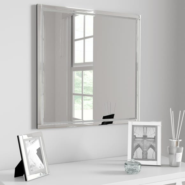 Diamonte 60cm Wall Mirror Silver undefined