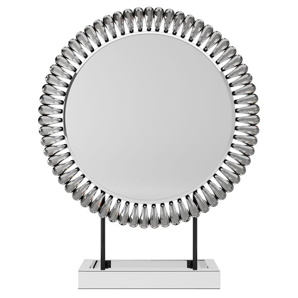 Glam Gem Edge Dressing Table Mirror Silver undefined