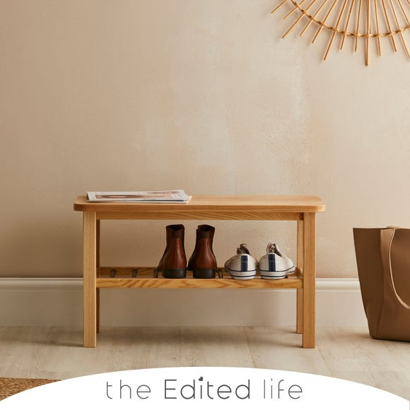 Ash Wood Shoe Rack Natural (Brown)