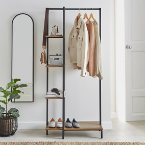 Fulton Clothes Rail with Shelves