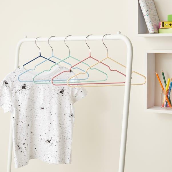 Set of 5 Multicoloured Kids Hangers MultiColoured