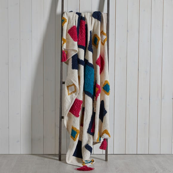 Tufted Multicoloured 130cm x 180cm Throw MultiColoured undefined