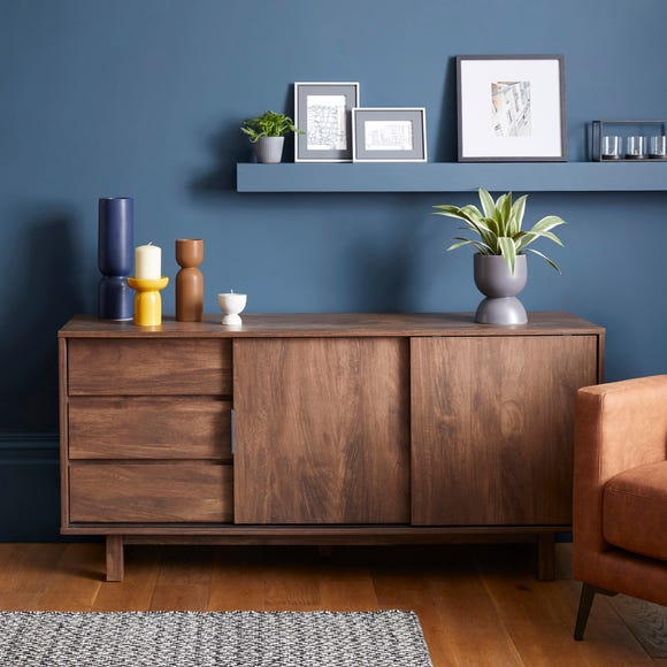 Carson Large Sideboard Dark Wood (Brown)