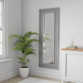 Grey Lucy Cane Full Length Mirror