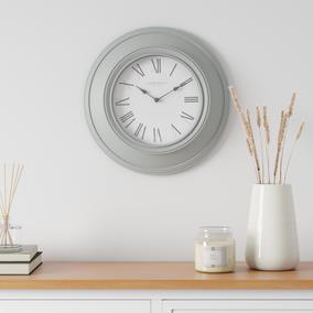 Light Grey Grantham Station 40cm Wall Clock