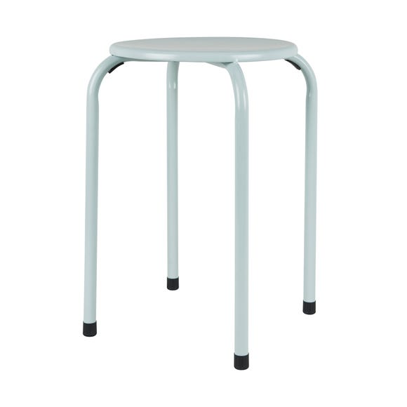 Adra Metal Stacking Stool Sage (Green)