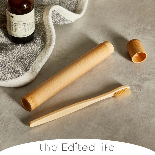 Bamboo Toothbrush Holder and Toothbrush Bamboo