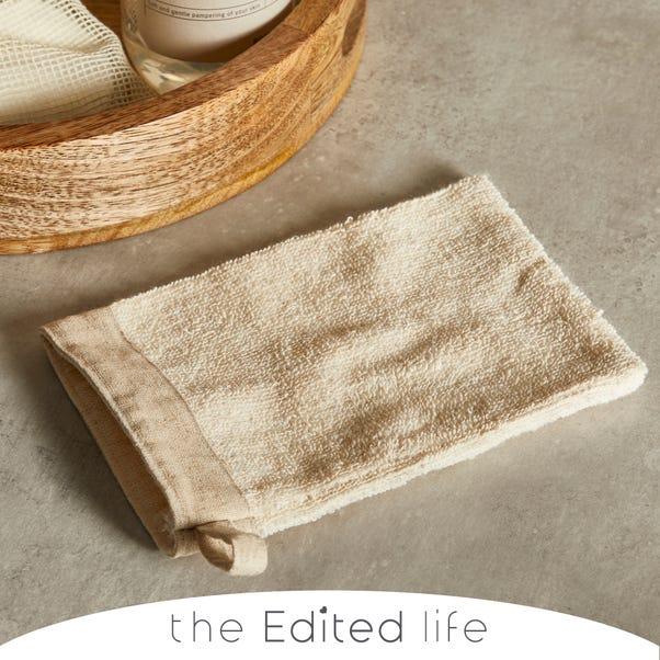 Cotton Jute Wash Mitt Natural (Cream)
