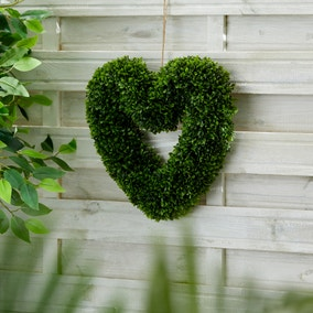 Artificial Heart Topiary Wreath