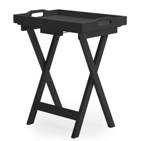 Edgar Butlers Tray Table - Black