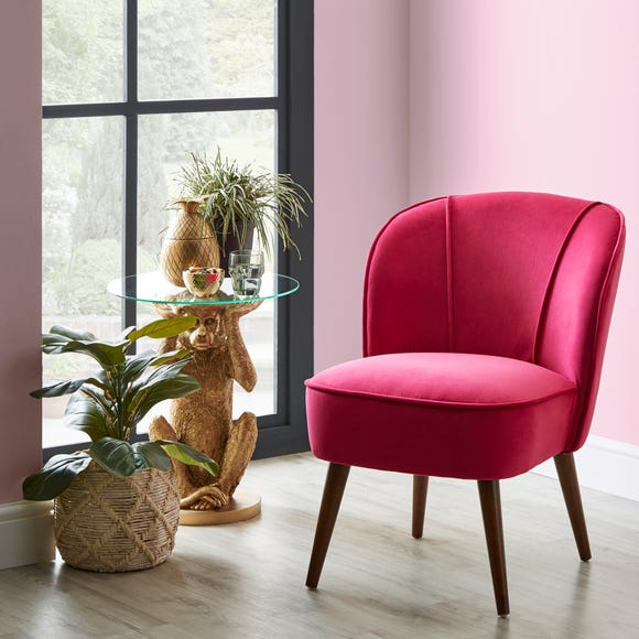 Elsie Hot Pink Cocktail Chair