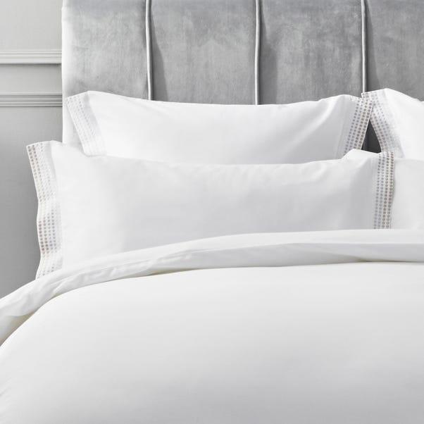 Dorma Purity Chesten 300 Thread Count Cotton Sateen Continental Pillowcase White