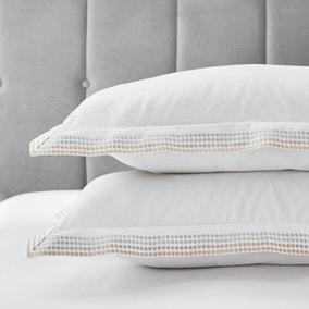 Dorma Purity Chesten 300 Thread Count Cotton Sateen Pillowcase Pair