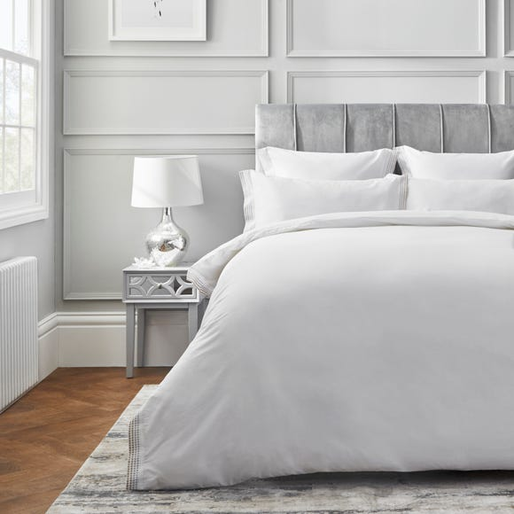 Dorma Purity Chesten 300 Thread Count Cotton Sateen Duvet Cover and Pillowcase Set  undefined