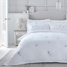 Dorma Ashmore Lavender 100% Cotton Duvet Cover and Pillowcase Set