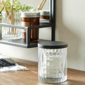 London Ribbed Glass Storage Jar