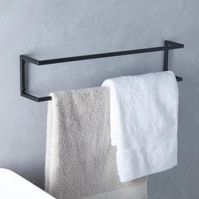 London Matt Black Towel Rail