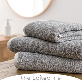 Yarn Dyed Recycled Charcoal Towel