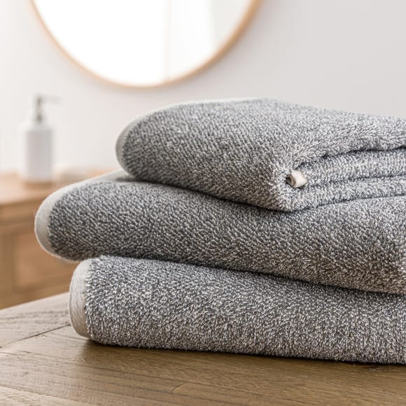 Yarn Dyed Recycled Charcoal Towel  undefined