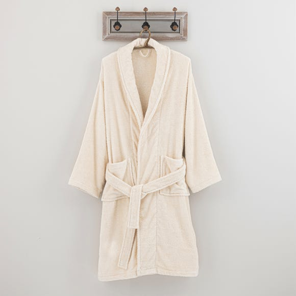 Egyptian Cotton Natural Bath Robe  undefined