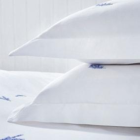 Dorma Ashmore Lavender 100% Cotton Oxford Pillowcase Pair