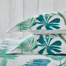 Dorma Mustique Green 100% Cotton Oxford Pillowcase Pair