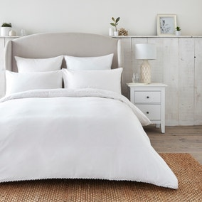 Dorma Purity Nimes 300 Thread Count Cotton Sateen Duvet Cover and Pillowcase Set