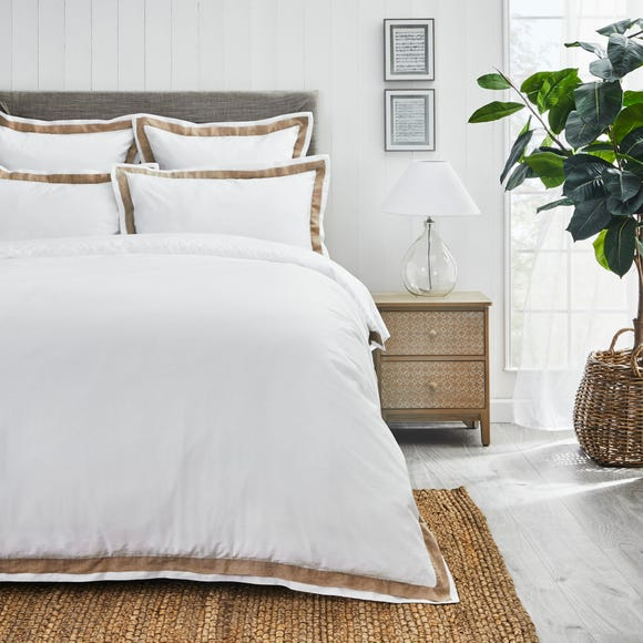 Dorma Purity Hemsby 300 Thread Count Cotton Sateen Duvet Cover and Pillowcase Set  undefined