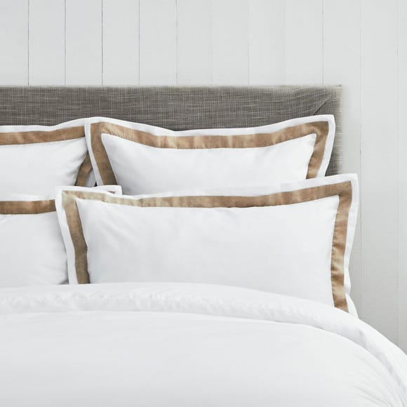 Dorma Purity Hemsby 300 Thread Count Cotton Sateen Continental Pillowcase White