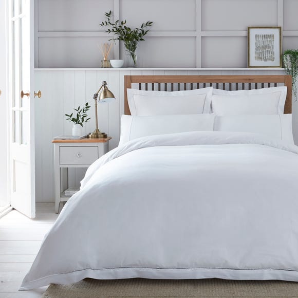 Dorma Purity Hayle 300 Thread Count Cotton Sateen Duvet Cover and Pillowcase Set  undefined