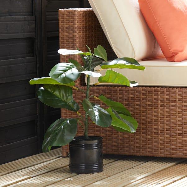 Artificial Tropical Leaf Plant in Plant Pot Dark Green