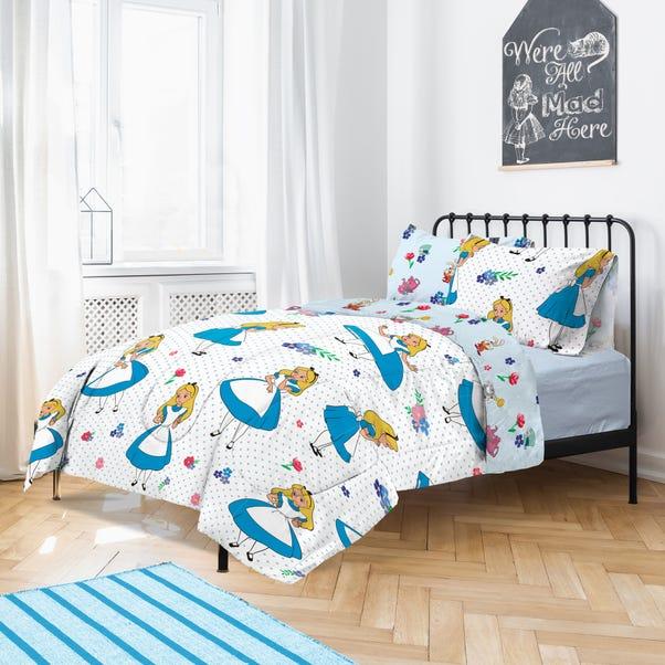 Disney Alice in Wonderland Duvet Cover and Pillowcase Set MultiColoured undefined