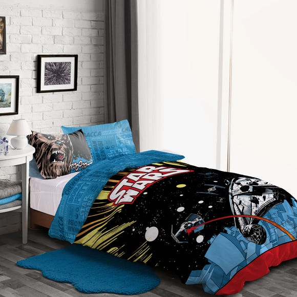 Disney Star Wars Duvet Cover and Pillowcase Set MultiColoured undefined