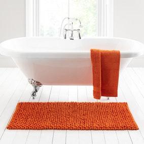 Pebble Orange Extra Large Bath Mat