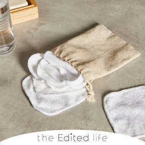 Bamboo Blend Pack of 7 Face Cloths with a White Cotton Bag