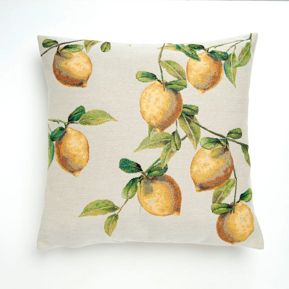 Lemon Tapestry Cushion Cover Yellow undefined