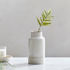Dorma Purity Ceramic Vase 17cm Cream