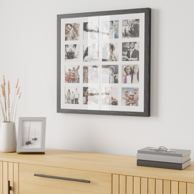 Grey Square Multi App Photo Frame