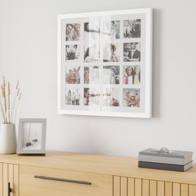 White Square Multi App Photo Frame