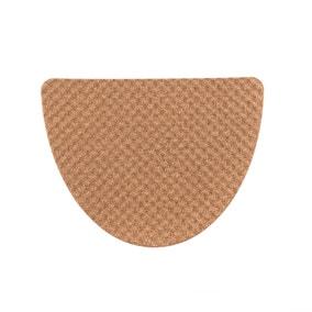 Cork Texture Semi Circle Bath Mat