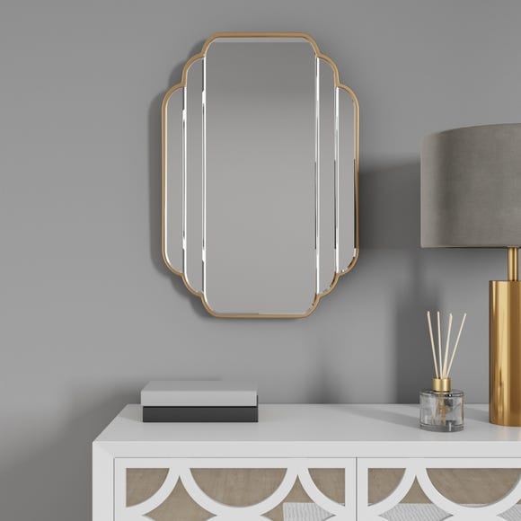 Equatorial Wall Mirror Gold Gold undefined